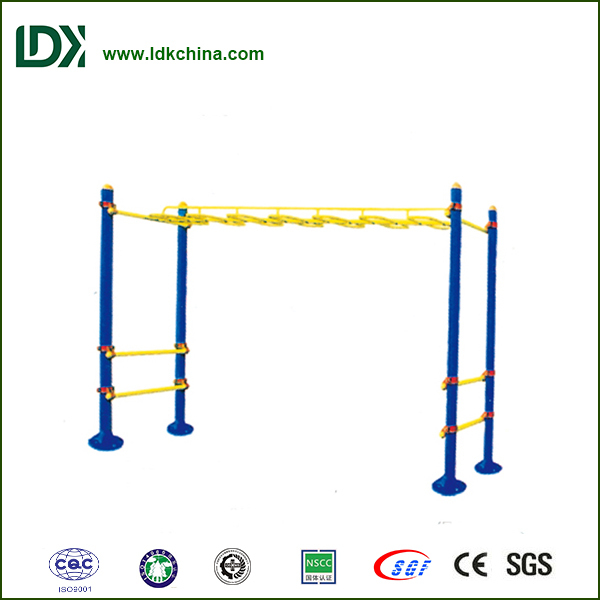 S Shaped Outdoor exercise park gym equipment Outdoor fitness equipment for adults monkey bars