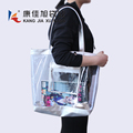 Summer Beach Clear PVC Shoulder Bag DIY Transparent Tote Bag
