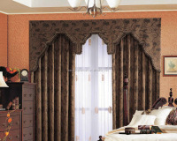2014 Hot selling Fashion block out embroidery Window Curtains