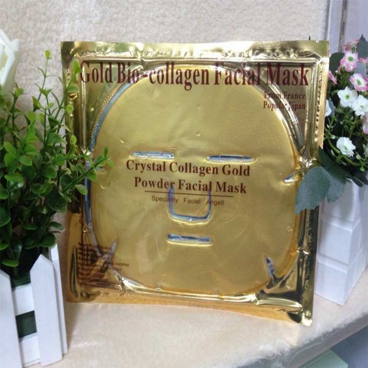 100% pure collagen 24k gold facial mask , gold collagen crystal face mask