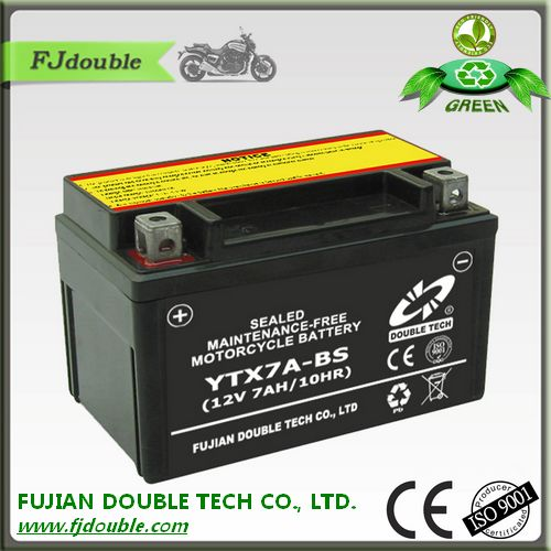 made in china sealed lead acid motorcycle 12v battery 24v 7ah