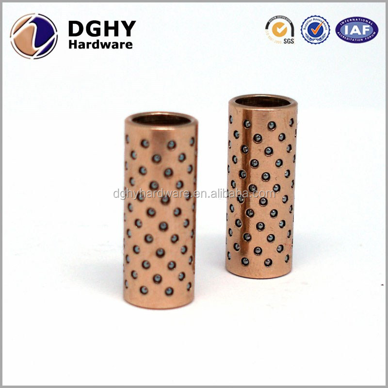 Bronze ball bearing guide bushing copper steel slide bearing Oil grooved brass bushing