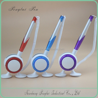 mix colors small MOQ Promotional Plastic Table pen, Desk Stand Ball Pen, Counter pen
