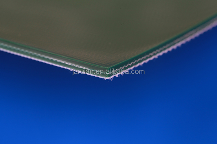dark blue flat polished PU conveyor belt