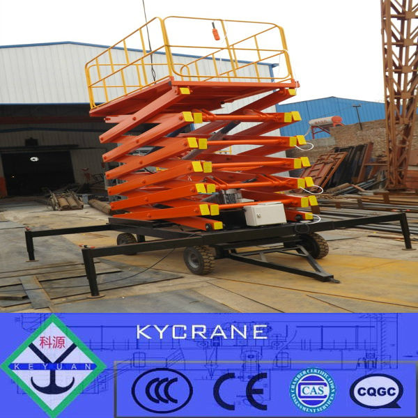 SJY0.3-12 mobile hydraulic car scissor lifting platform