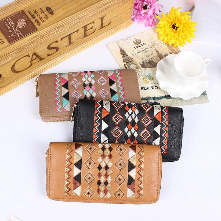 Fashion Business Style Men Clutch Wallets Hand Bag Cell Phone Purse Long Wallet