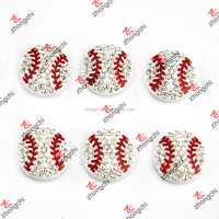 Rhinestone Baseball Slide Charms For DIY Jewelry Bracelet