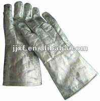 Firefighting high temperature aluminized gloves