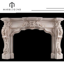 Low price high quality antique fireplace marble chimneypiece