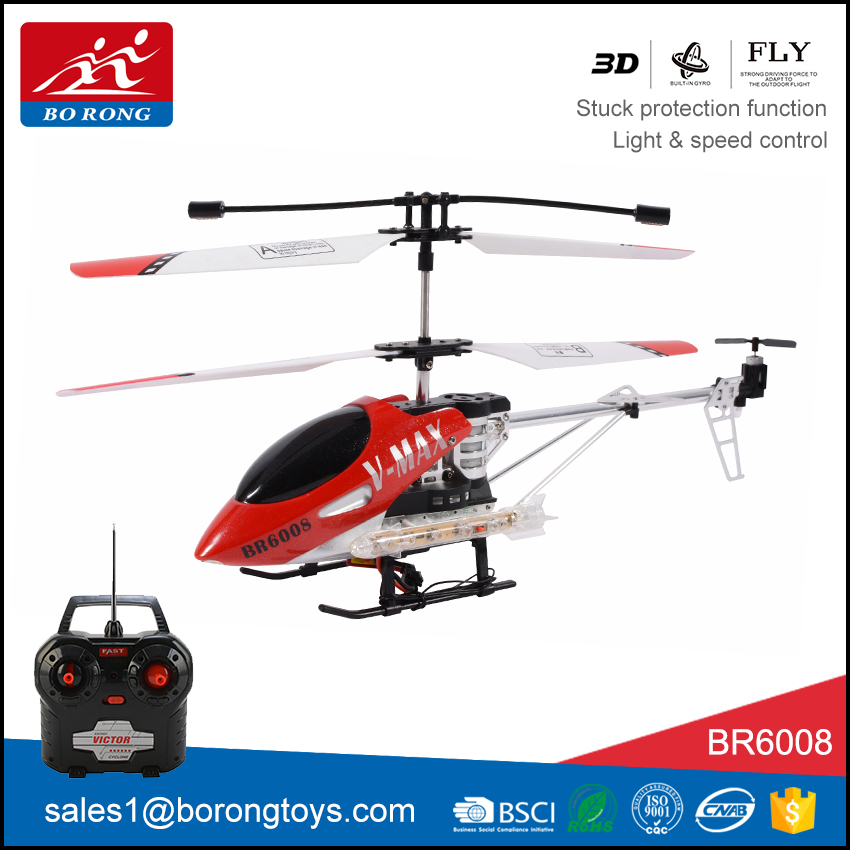new item flying toy led light 3/3.5CH red color rc aircraft with gyro BR6008