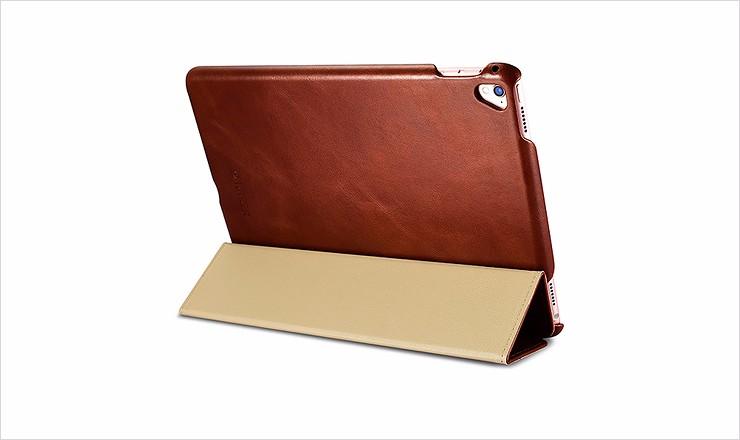 ICARER Genuine Leather Tablet Case for iPad pro 9.7 Flip Cover