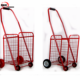 2015 New Carrefour Plastic Folding Shopping Cart