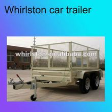double axle car carrying trailer