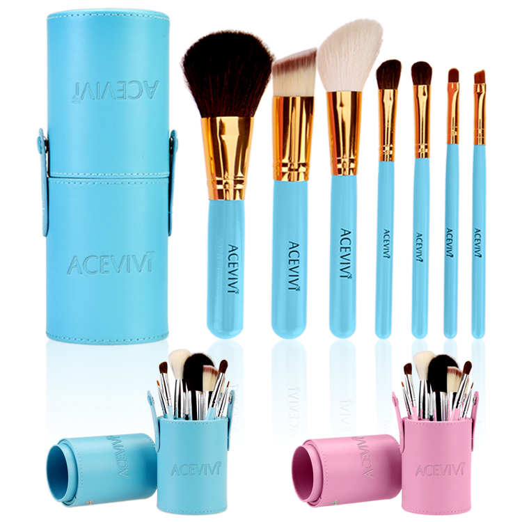 Fashion Women Lady's 7pcs Makeup Cosmetic Tools Powder Foundation Blush Brush Brushes Set in Barrel