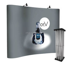 trade show booth exhibit display curved folding pop up banner stand