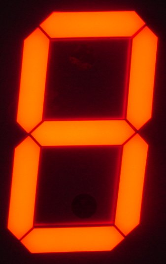 customization Common Cathode Super Red 0.26 inch 1 Digital 7 Segment LED Display