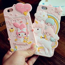 Cute 3D Cartoon My Melody Zootopia Bunny Judy Monsters Phone Case for iPhone 5 5s SE 6 6s 6Plus 6s Plus Soft Silicone Cover