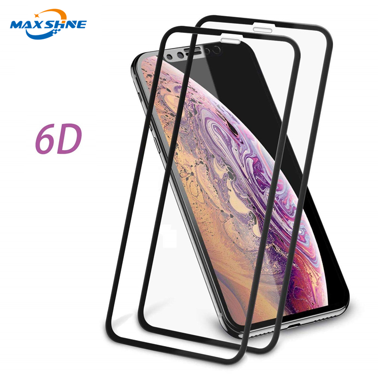 Mobile Phone Accessories 0.3mm glass for iphone 6 7 8 xr x 6D tempered glass screen protector support amazon shipping