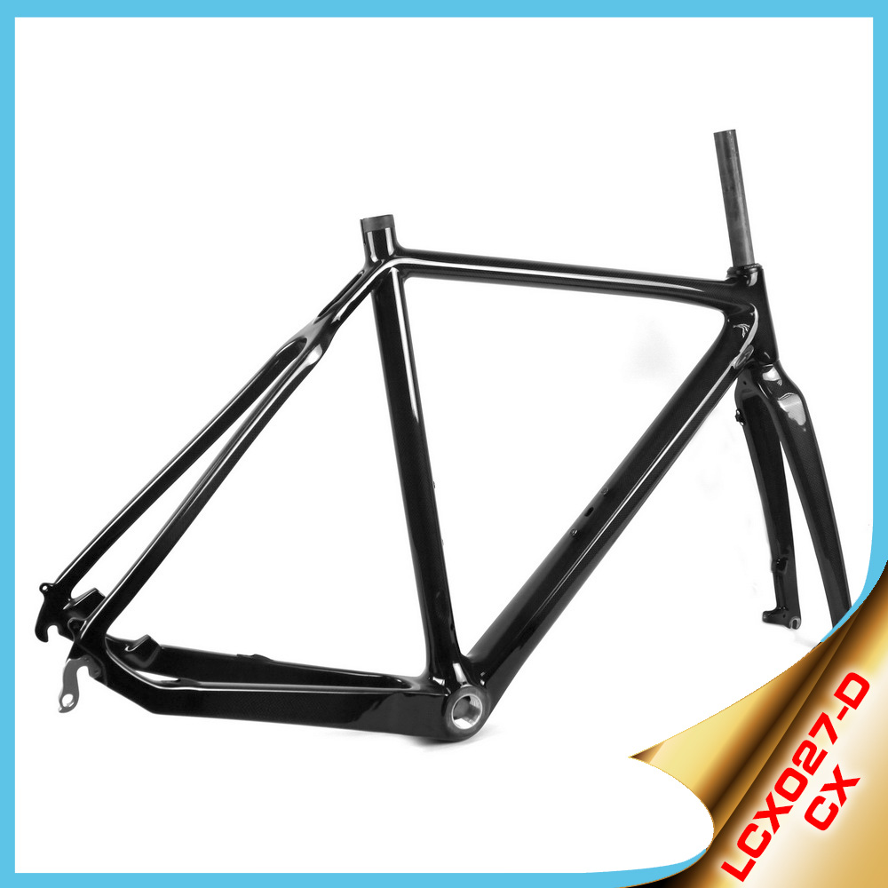 2016 YISHUNBIKE 700C road bike frames chinese carbon fiber bicycle frame kit cycle cross LCX027-D wholesale