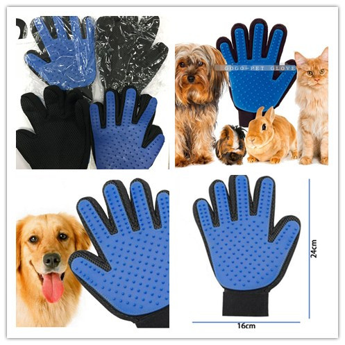 GOGO-Pet Cat Dog Bath Five Finger Pet Washing Bathing Glove , Pet Grooming Glove Brush, Pet Glove