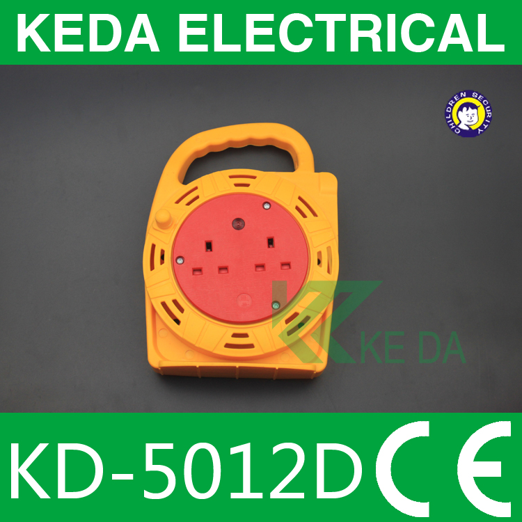 European type of small cable reel 4 outlet