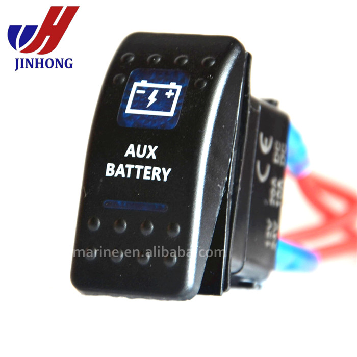 6 pin 12volt automotive waterproof illuminated racing ROCKER SWITCH dpdt