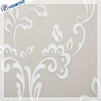 Howoo latest home decor white embossed wallpaper designs