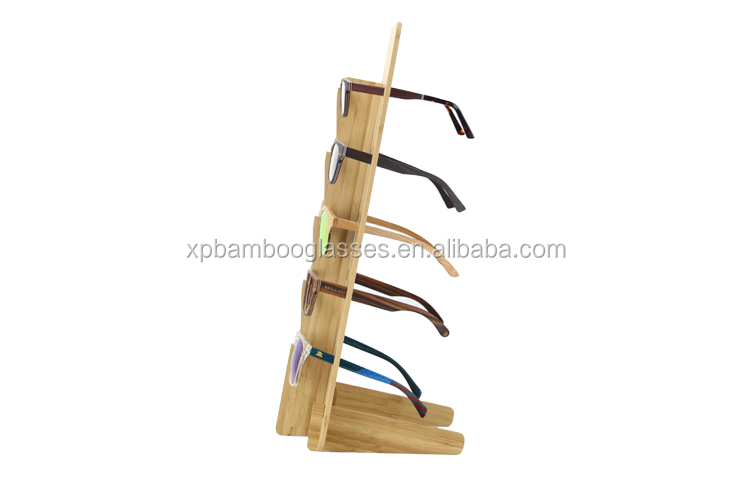 New Design Handmade Natural Bamboo Glasses Display Rack