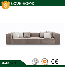New design high quality velvet sectional sofa with wooden frame