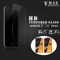 Factory Supply 0.26mm thickness 9H Hardness plating 2.5D Best tempered glass screen protector for iPhone 6 6 Plus