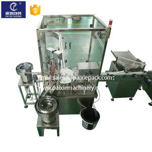 Advanced design small glass/plastic bottle vape filling machine with piston pump driven type