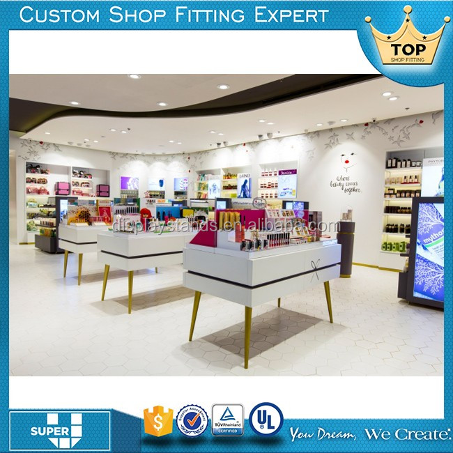 fashion good design retail display furniture for cosmetic store
