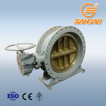 water gas steam cast wcb a216 cf8 c95800 1200mm butterfly valve gearbox worm gear drive butterfly valve