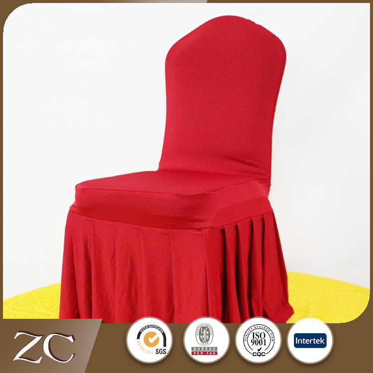 Factory direct China universal spandex stretch pleated banquet chair cover