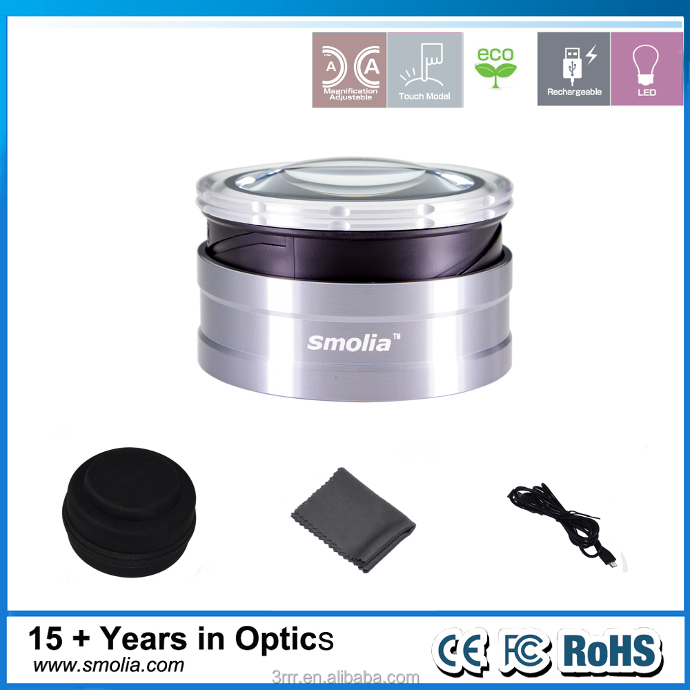 Smolia TZC Rechargeable original best trading product industrial desktop LED magnifier utility