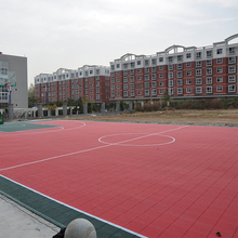 High elasticity Interlocking plastic sports flooring tiles basketball volleyball court pp modular