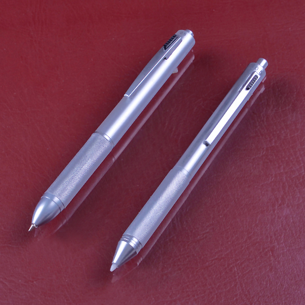 INTERWELL BPM221 Multifunctional Metal Ballpoint Pen, New Office Gift Silver Pen