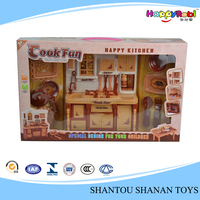 Cute funny kids cooking plastic toy kitchen play set