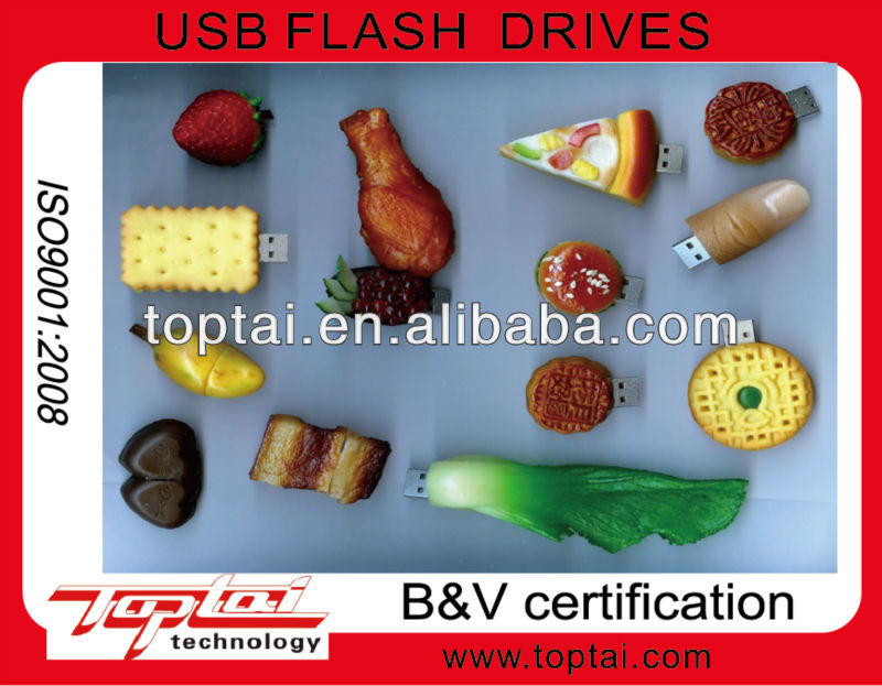 2013 plastic food simulation series of usb flash pen drive