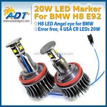 20W H8 LED marker angel eye for BMW E87 E82 E90 E91 E92 E93 E60 E61 X1 X5 E70 X6 E71