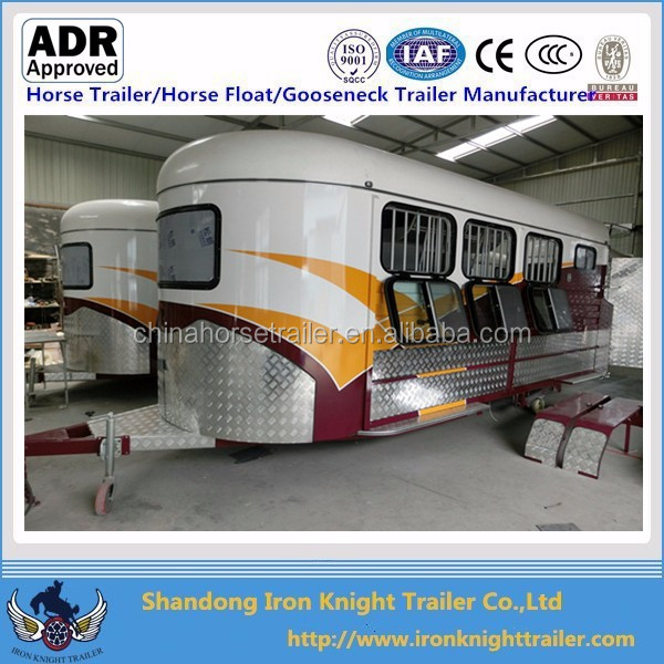 China made 3 horse angle load float with kitchen Australian Standards