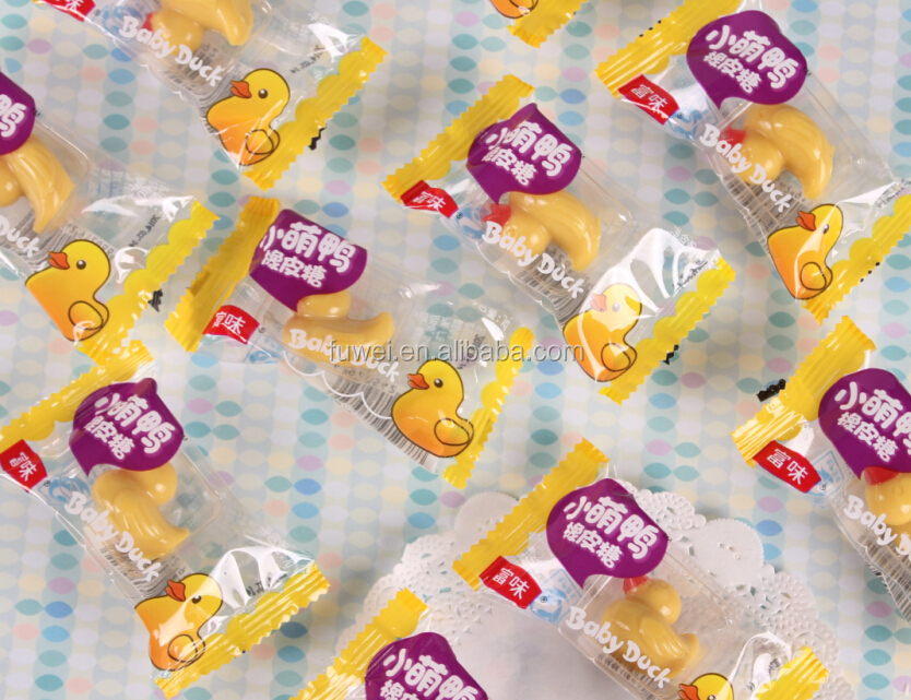 three-dimensional baby duck halal gummy jelly soft candy