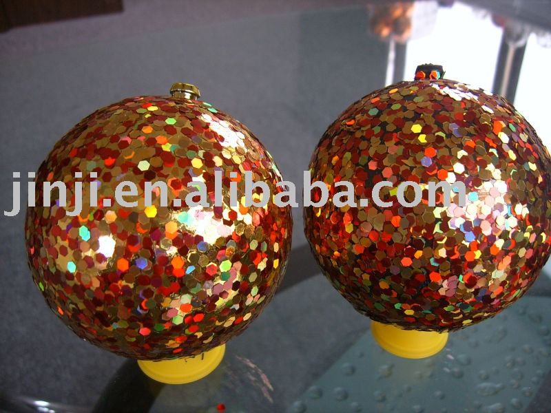 Multi-colore mirror Plastic christmas ball