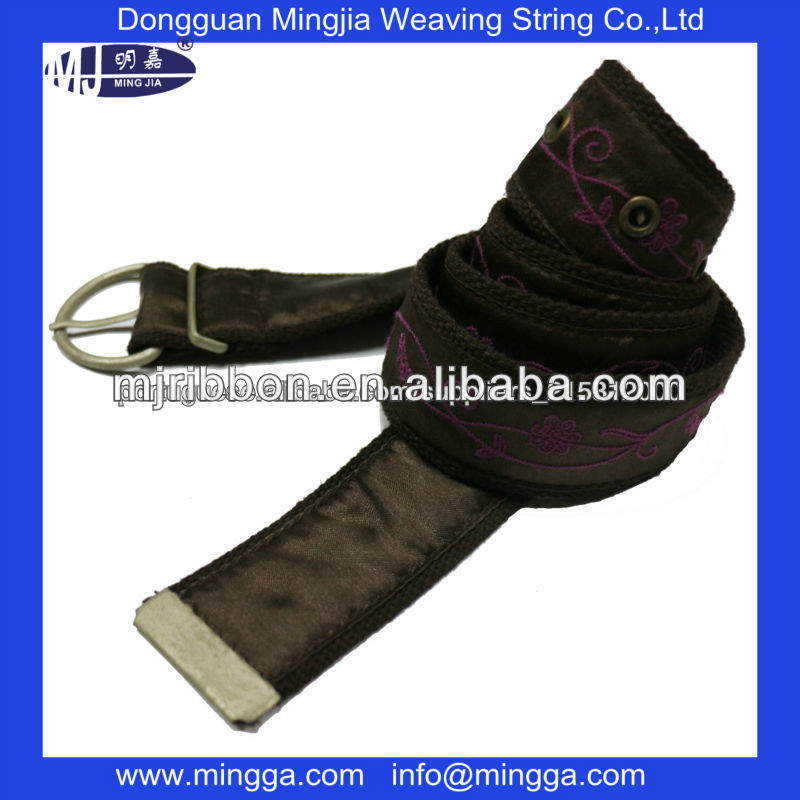 logo imprint webbing strap with sublimation ribbon satin belt