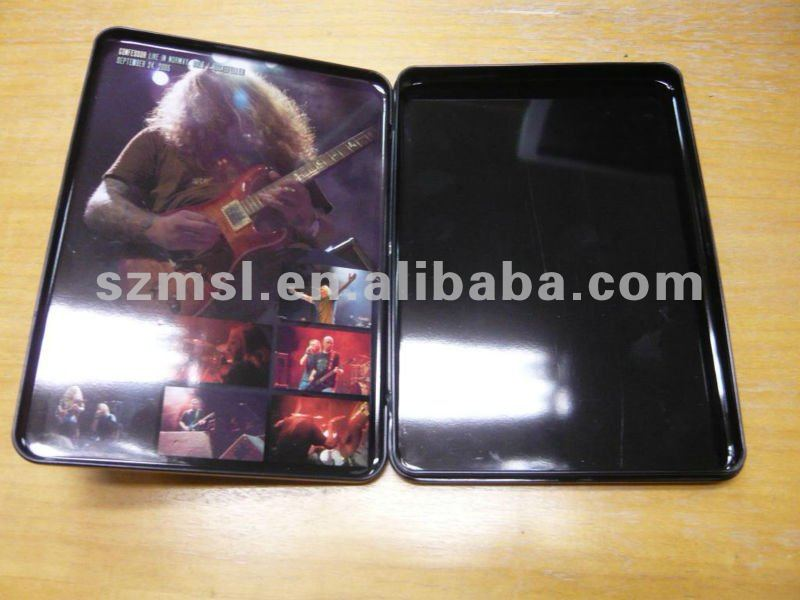 Metal Single DVD Holder with Insert Plastic Tray, CD Case