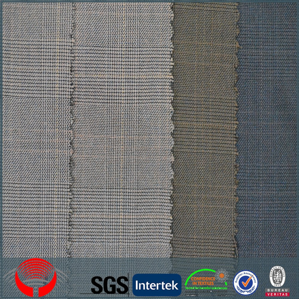 men suit tr check fabric for making school uniforms tr suiting fabric in checks
