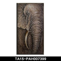 high quality pop selling handpainted animal abstract elephant oil painting for interior decor
