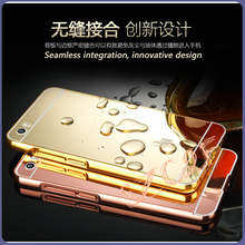 Made in china phone case ultra thin protective aluminum metal frame plating mirror hard case back cover for xiaomi mi5