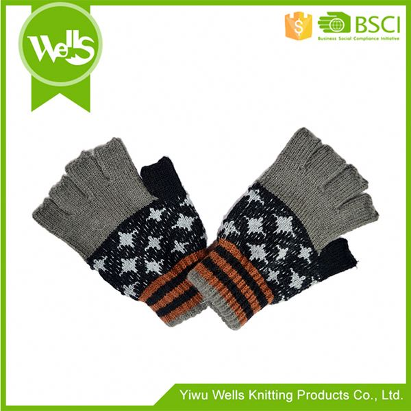 New products OEM quality acrylic knit winter gloves from China