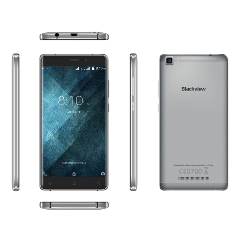 IN STOCK Blackview A8 Max 2GB 16GB 5.5 inch Android 6.0 MTK6737 Quad Core Mobile Phone GPS Dual <strong>SIM</strong> 4G Cell Phone(Grey)